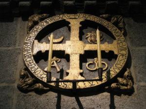 Cruz da consagración da catedral de Santiago